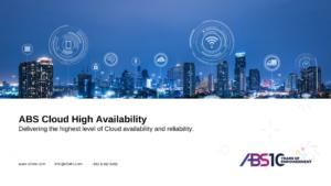 Cloud High Availability - ABS